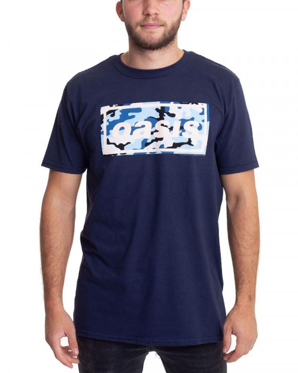 Oasis - Camo Logo Navy Men's T-Shirt