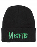 Misfits - Logo Embroidered Black Beanie