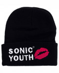 Sonic Youth - Goo Logo Embroidered Black Beanie