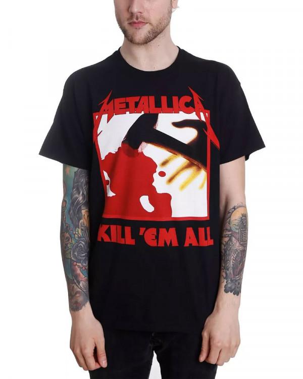 Metallica - Kill Em All Tracks Black Men's T-Shirt