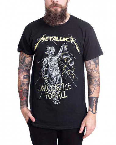Metallica - And Justice For All Tracks Black Men's T-Shirt