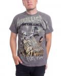 Metallica - Justice Neon All Over Charcoal Men's T-Shirt