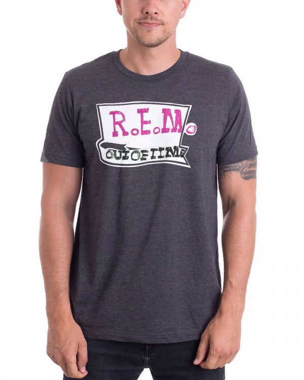 R.E.M. - Out Of Time Charcoal Men's T-Shirt