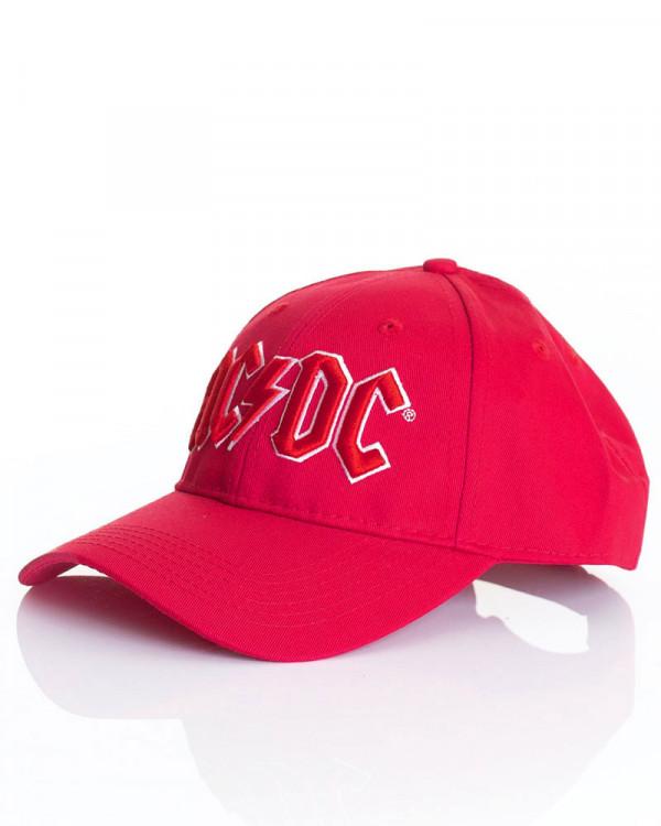 AC/DC - Red Logo Red Baseball Cap