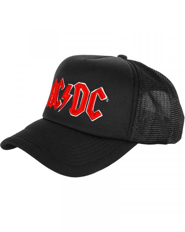 AC/DC - Red Logo Black Trucker Cap