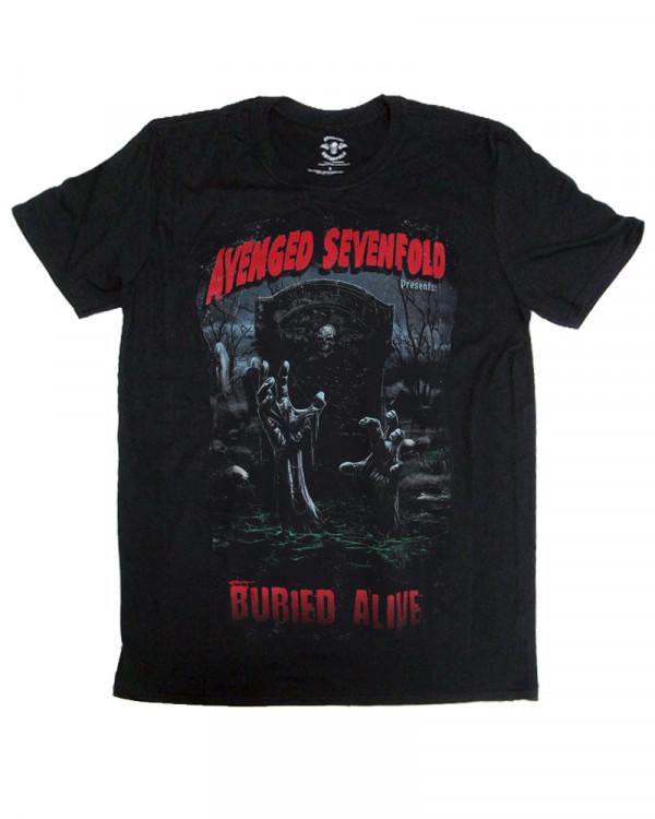 Avenged Sevenfold - Buried Alive Tour 2012 Black Men's T-Shirt