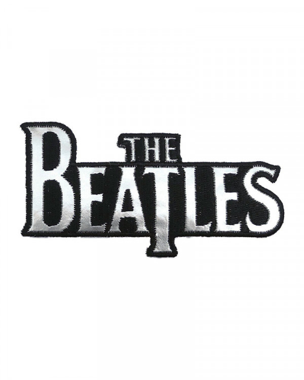 Beatles - Silver Drop T Logo Embroidered Patch