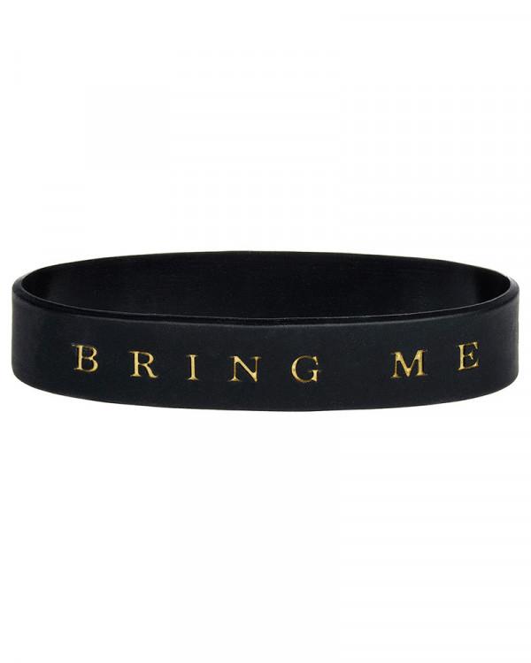 Bring Me The Horizon - Logo Black Gummy Wristband