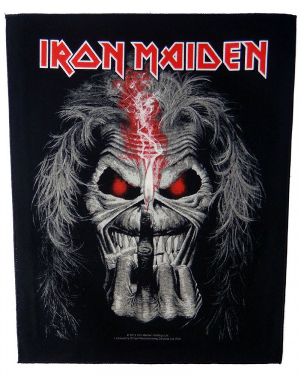 Iron Maiden - Eddie Candle Finger Back Patch