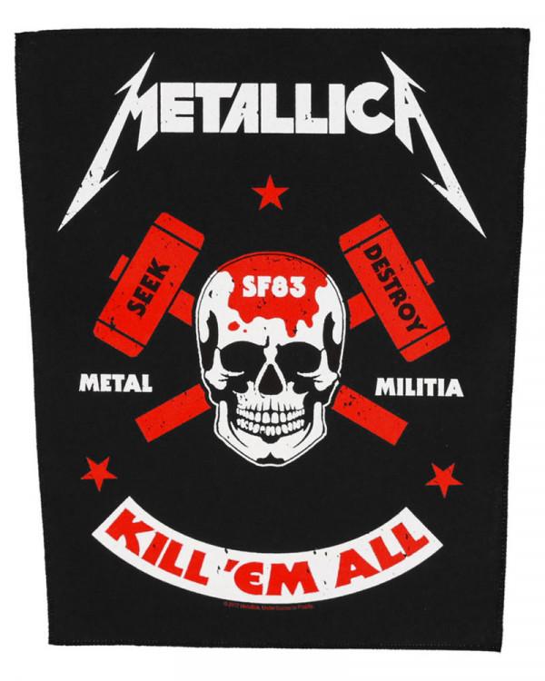 Metallica - Metal Militia Back Patch