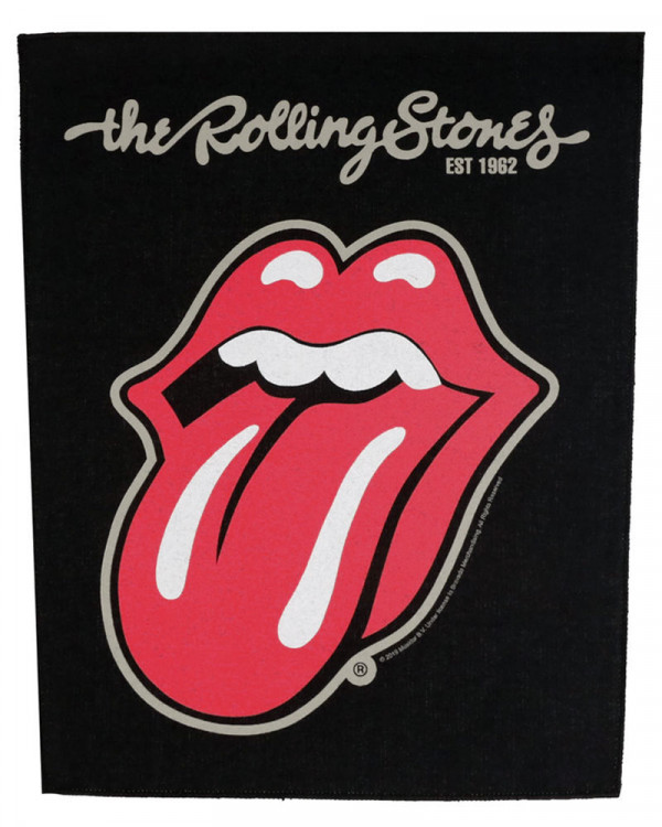 Rolling Stones - Plastered Tongue Back Patch