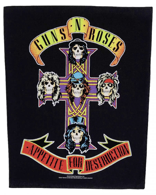 Guns N' Roses - Appetite For Destruction Back Patch