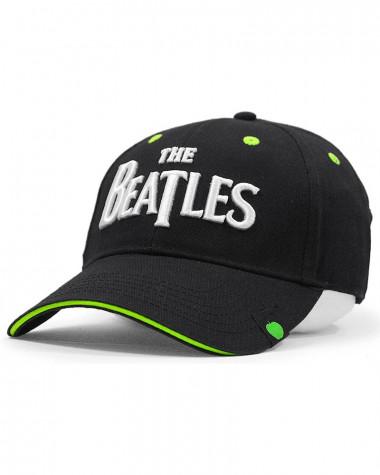 Beatles - Drop T Logo Black Baseball Cap