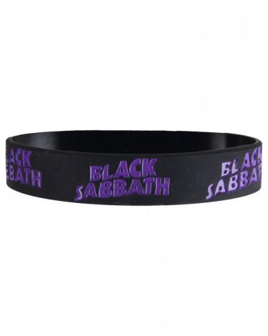 Black Sabbath - Logo Black Gummy Wristband