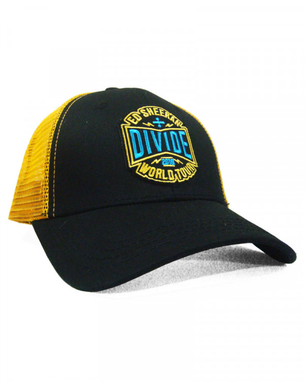 Ed Sheeran - 2019 Divide Word Tour Black-Yellow Trucker Cap