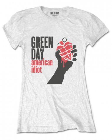 Green Day - American Idiot White Women's T-Shirt