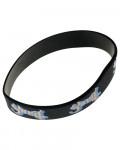 Ghost - Logo Black Gummy Wristband