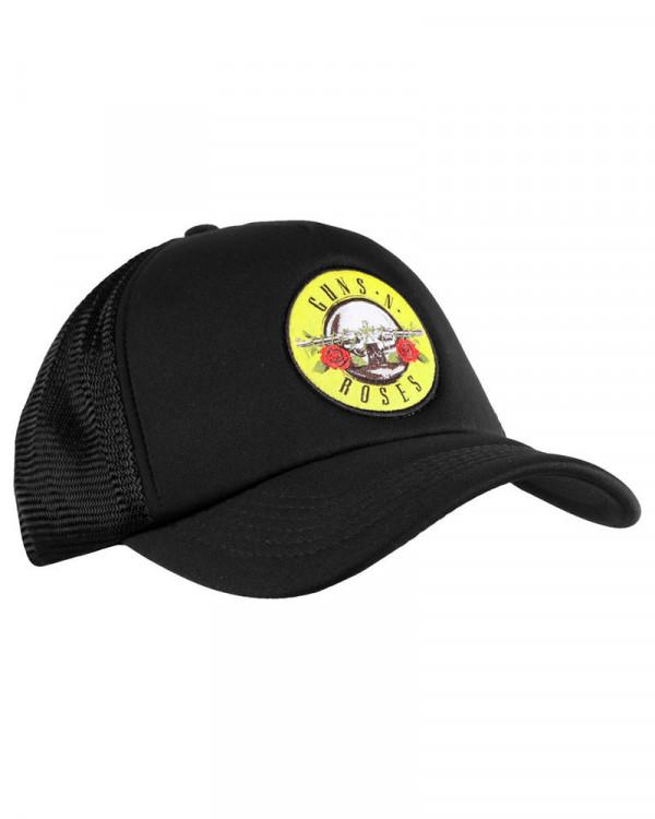 Guns N' Roses - Circle Logo Black Trucker Cap