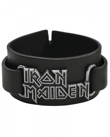 Iron Maiden - Logo Leather Wrist Strap