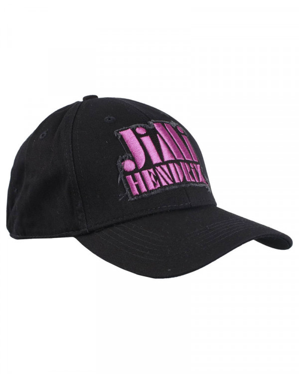 Jimi Hendrix - Purple Stencil Logo Black Baseball Cap