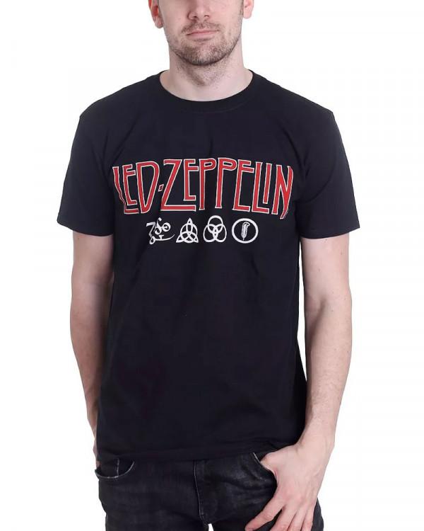 Led Zeppelin - Logo & Symbols Men's T-Shirt