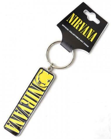 Nirvana - Smiley & Logo Keychain