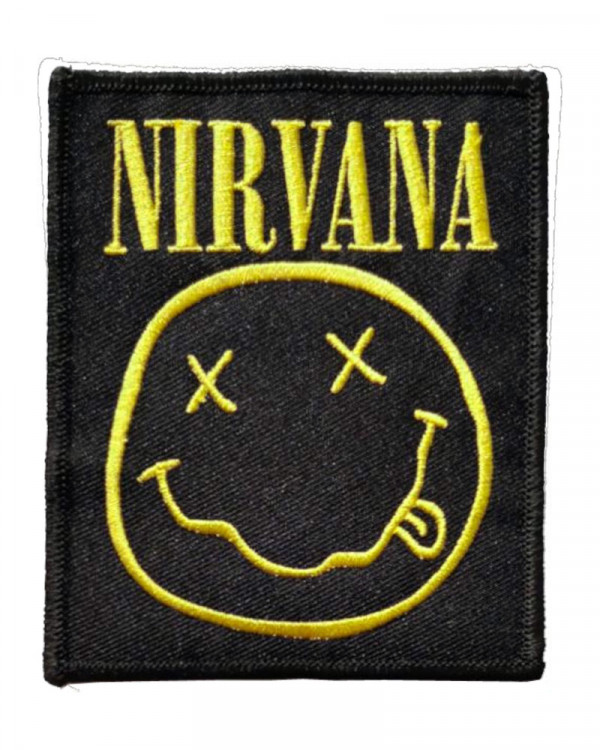 Nirvana - Smiley Embroidered Patch