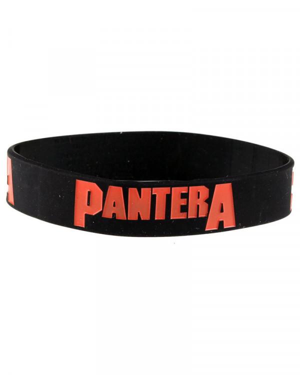 Pantera - Logo Black Gummy Wristband