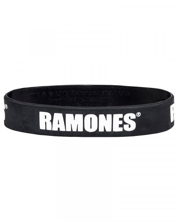 Ramones - Logo Black Gummy Wristband