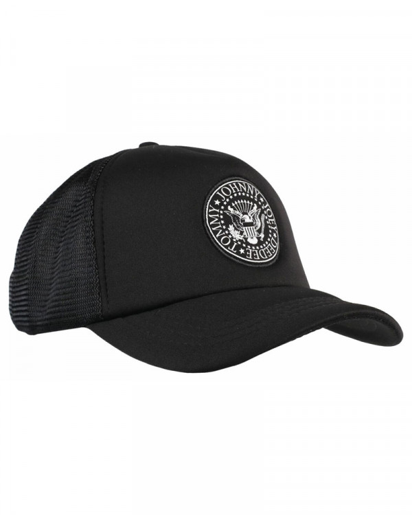Ramones - Presidential Seal Black Trucker Cap