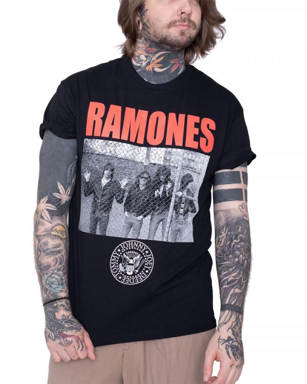 Ramones - Cage Photo Black Men's T-Shirt