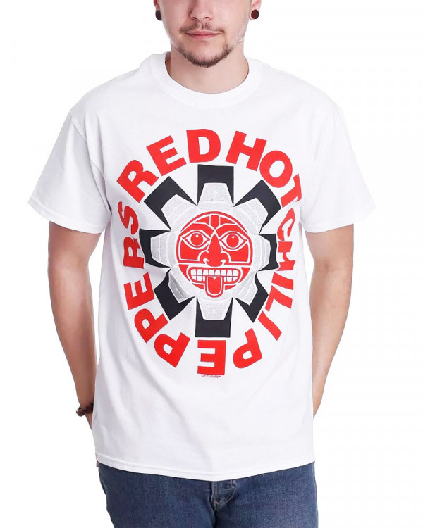 Red Hot Chili Peppers - Aztec White Men's T-Shirt