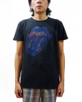 Rolling Stones - Blue & Lonesome Tongue Vintage Finish Black Men's T-Shirt