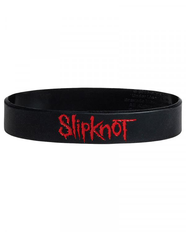 Slipknot - Logo Black Gummy Wristband