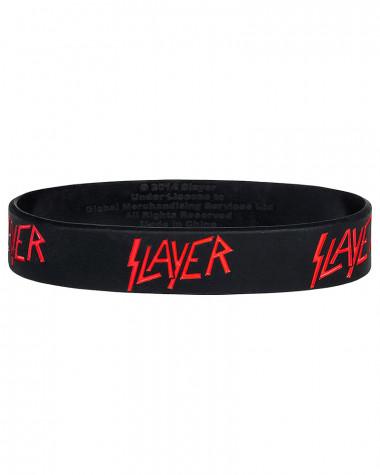 Slayer - Logo Black Gummy Wristband