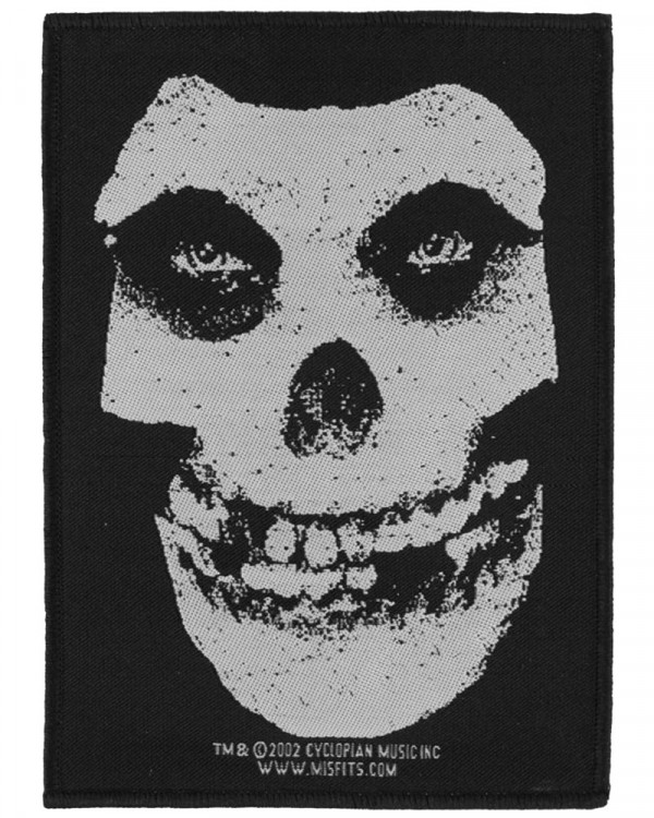 Misfits - White Skull Woven Patch