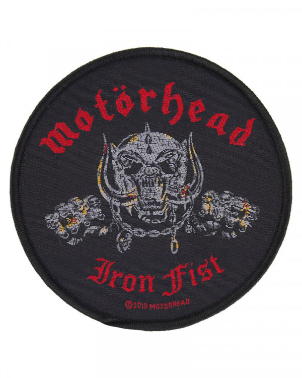 Motorhead - Iron Fist Skull Woven Patch