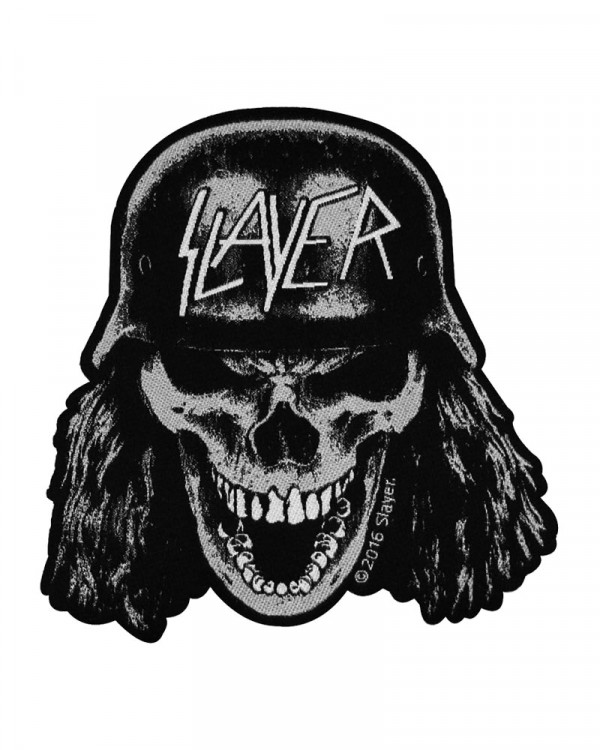Slayer - Wehrmacht Skull Cut Out Woven Patch