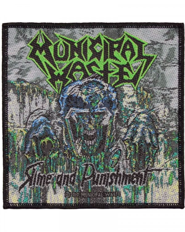 Municipal Waste - Waste Slime And Punishment Woven Patch