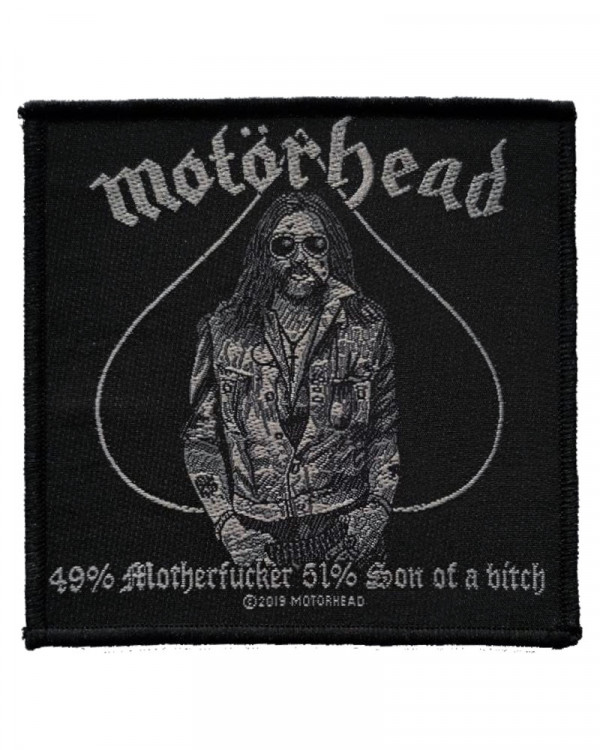 Motorhead - 49% Motherfucker Woven Patch