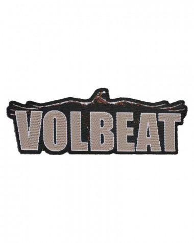 Volbeat - Raven Logo Cut Out Woven Patch