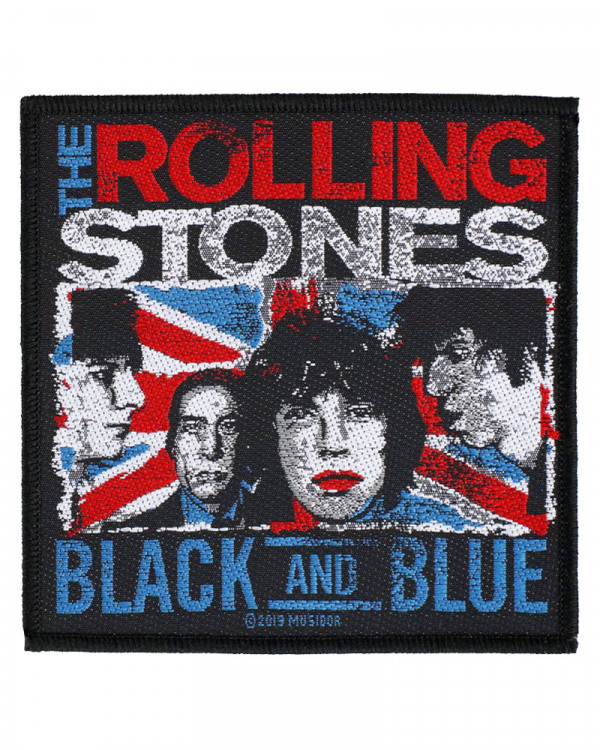 Rolling Stones - Black & Blue Woven Patch
