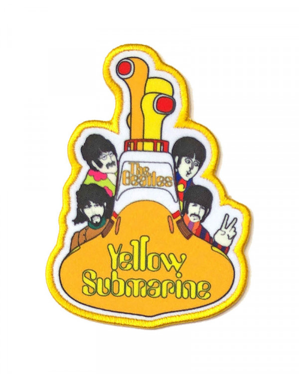 Beatles - Yellow Submarine All Aboard Printed Embroidered Patch