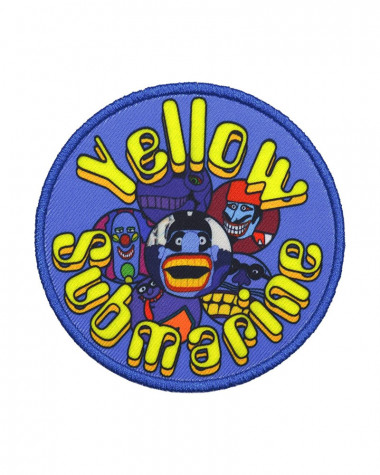 Beatles - Yellow Submarine Baddies Circle Printed Embroidered Patch